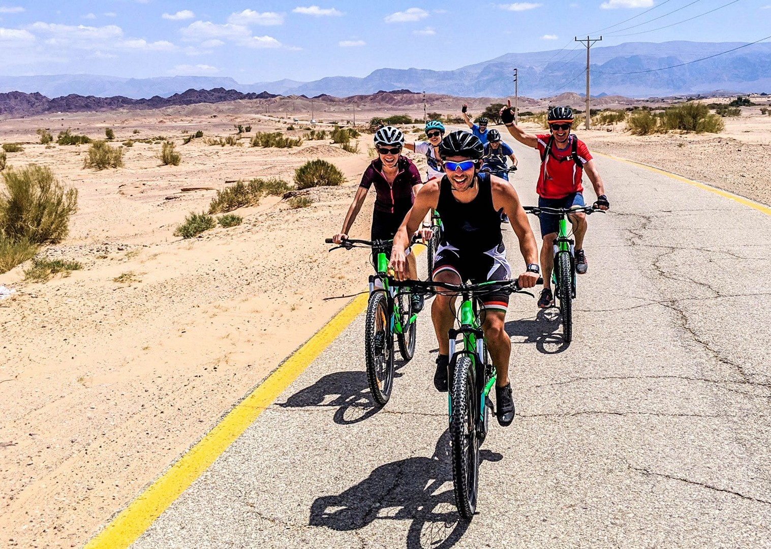 group-cycling-jordan-riding-guided-holiday-adventures.jpg - NEW! Jordan - Petra, Wadi Rum & the Dead Sea - Cycling Adventures
