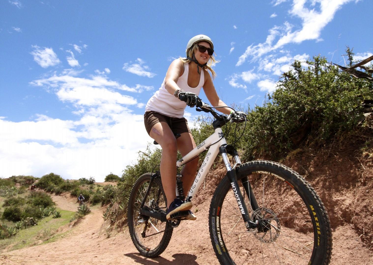 BAS Girl on Bike.jpg - Peru - Andes, Amazon and Machu Picchu - Cycling Adventures