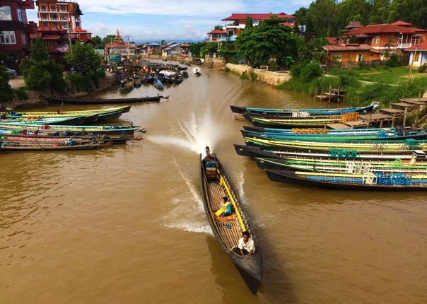 river-boats-guided-cycling-holiday-burma.jpg - Burma - Bagan and Beyond - Cycling Adventures