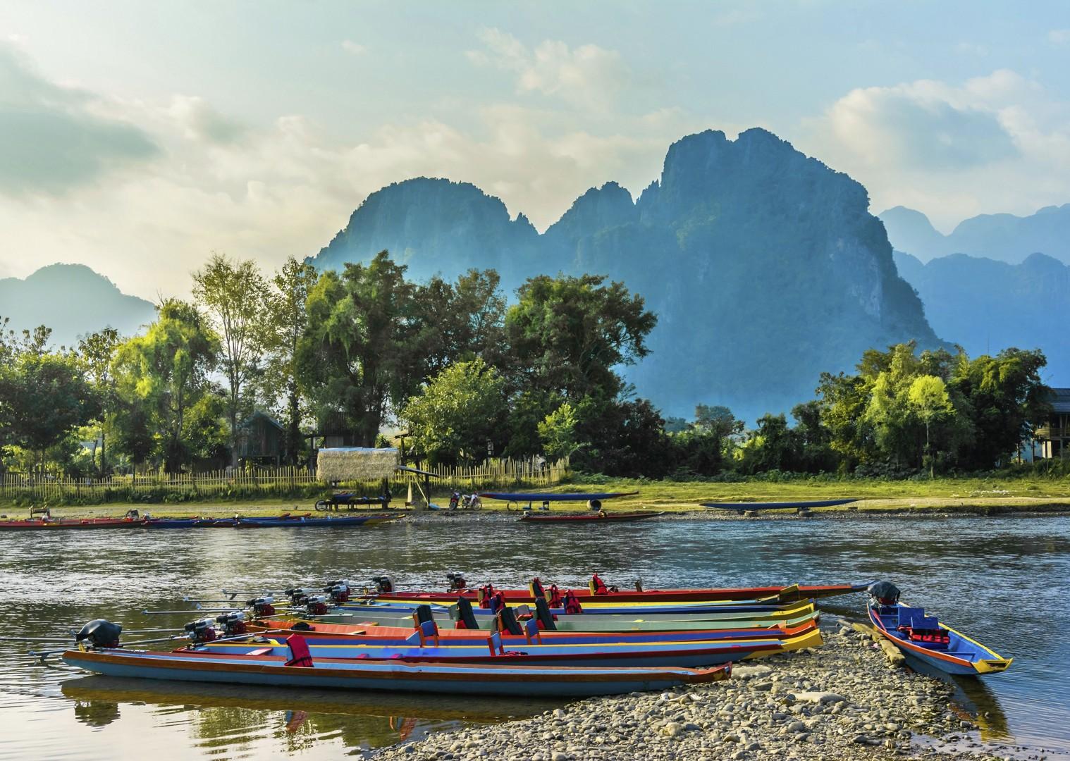 cycling-adventure-laos-holiday-NamSong-VangVieng.jpg - Laos - Hidden Treasures - Cycling Adventures