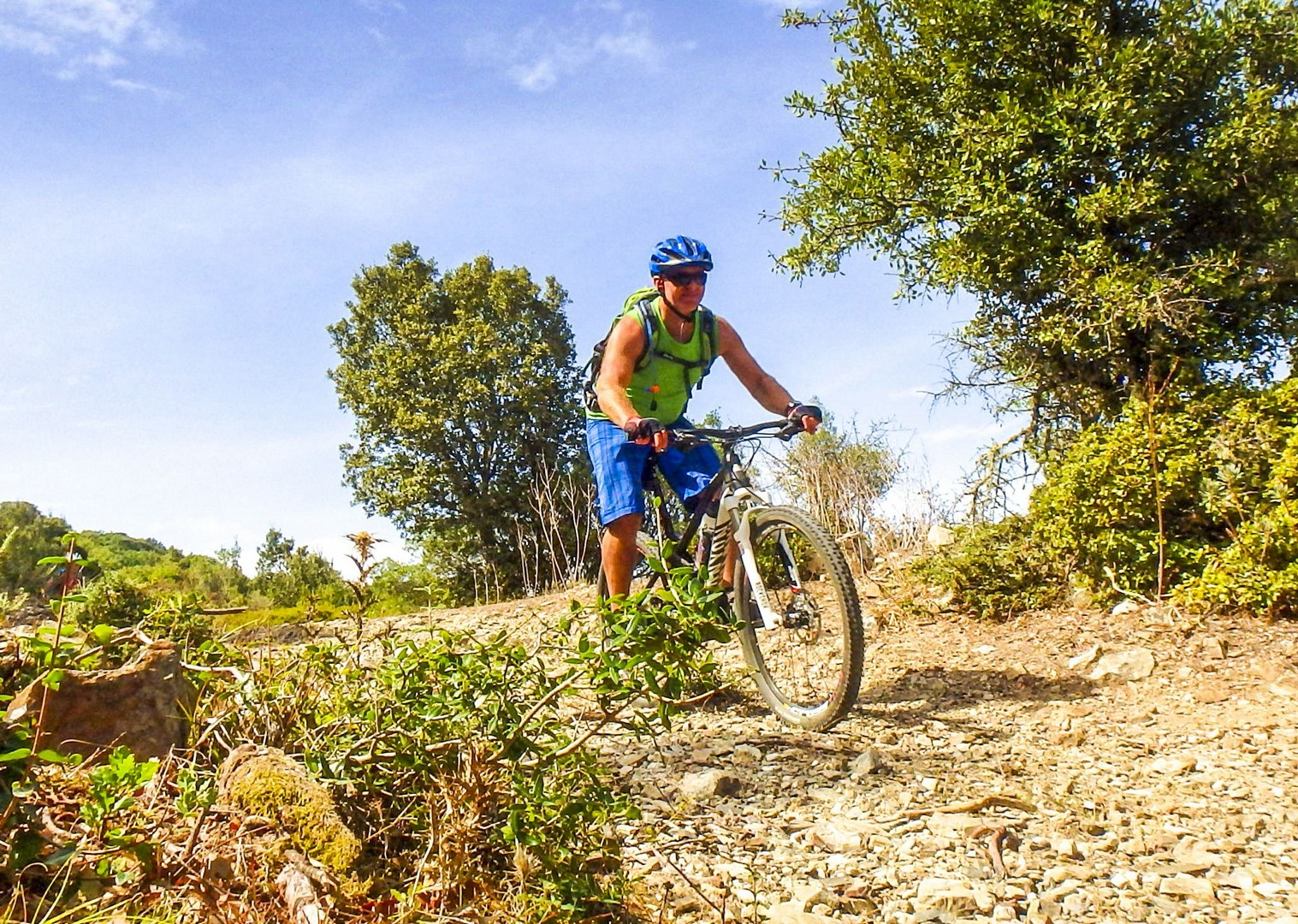 group-mountain-biking-italy-sardinia-experience-saddle-skedaddle.jpg - Sardinia - Coast to Coast - Mountain Biking