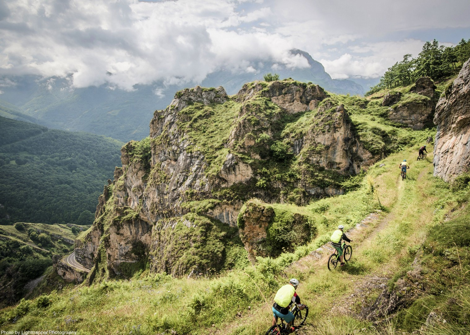 high-peaks-mountain-biking-northern-spain-urdon-gorge.jpg - Spain - Picos de Europa - Trans Picos - Guided Mountain Bike Holiday - Mountain Biking