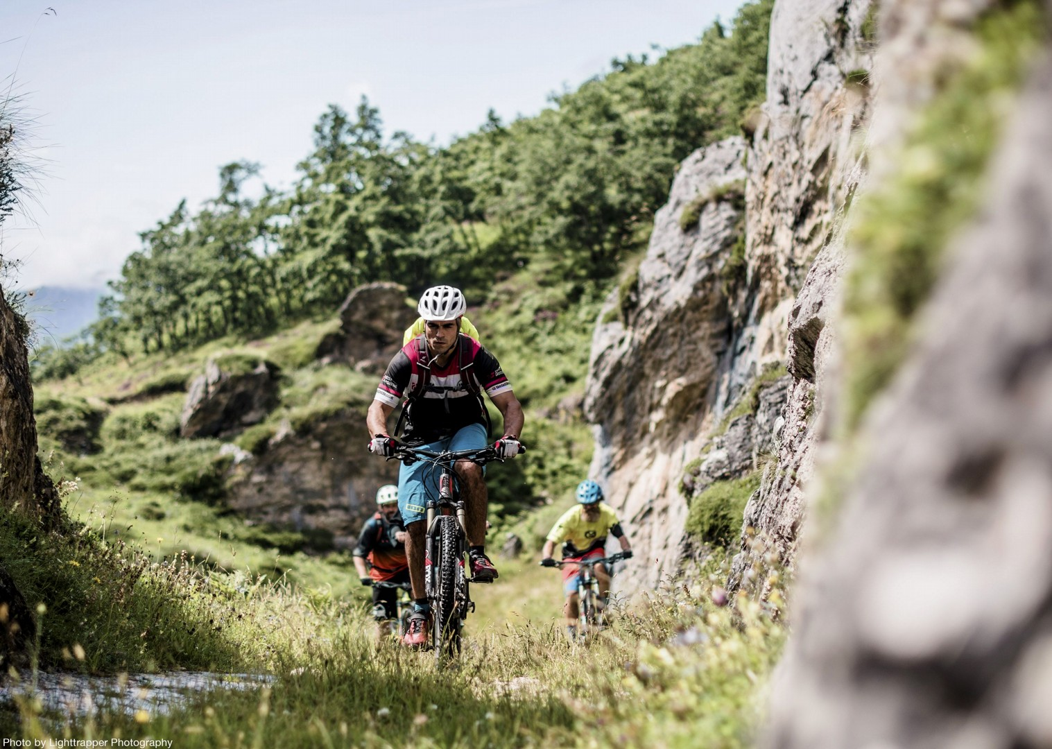 group-mountain-biking-northern-spain-urdon-gorge.jpg - Spain - Picos de Europa - Trans Picos - Guided Mountain Bike Holiday - Mountain Biking