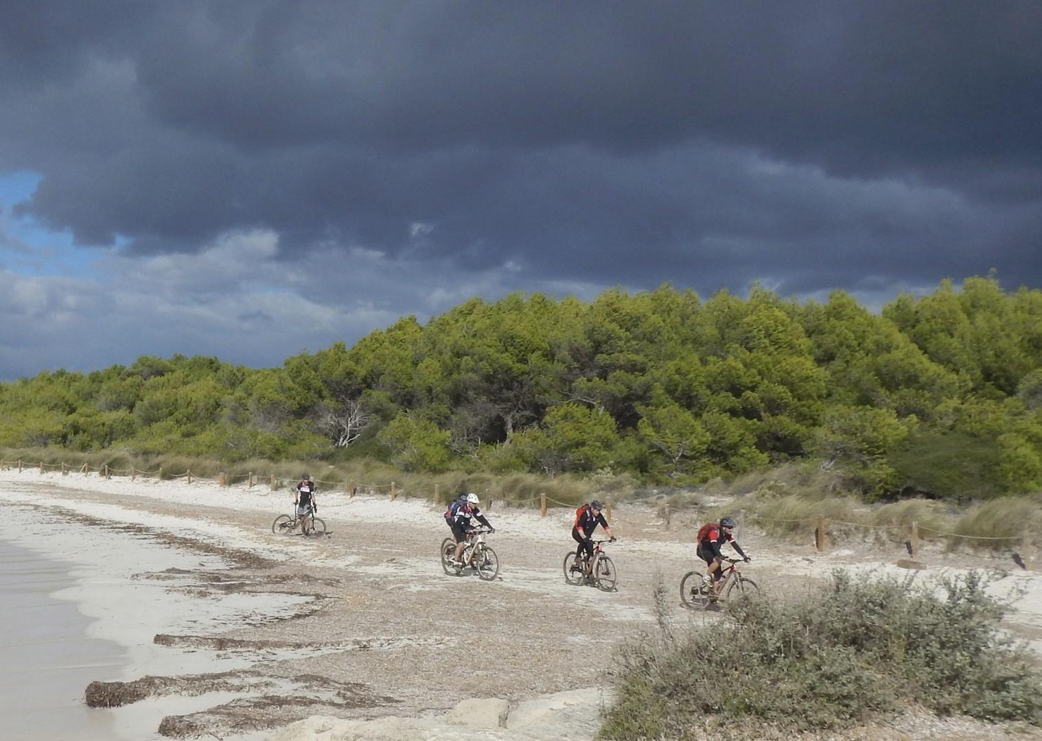 mountain-biking-holiday-spain-beach.jpg - Spain - Menorca - Cami de Cavalls - Guided Mountain Bike Holiday - Mountain Biking