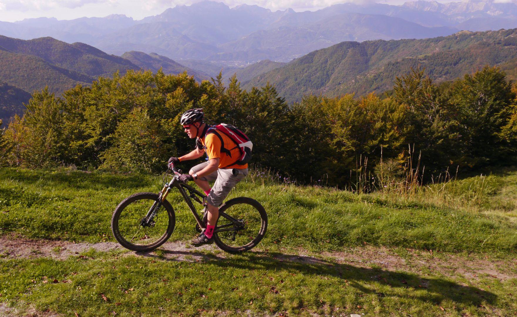 Early morning climbing.jpg - Italy - Via Francigena (Tuscany to Rome) - Mountain Biking
