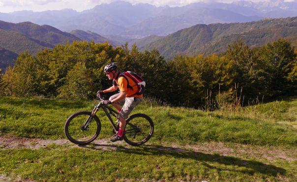 Early morning climbing.jpg - Italy - Via Francigena (Tuscany to Rome) - Guided Mountain Biking Holiday - Mountain Biking