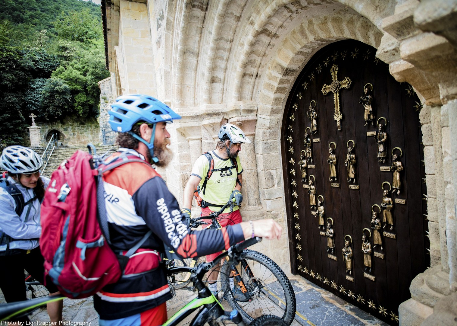 bike-pilgrims-trail-to-santiago-de-compostela-in-galicia.jpg - Spain - Camino Primitivo - Guided Mountain Biking Holiday - Mountain Biking