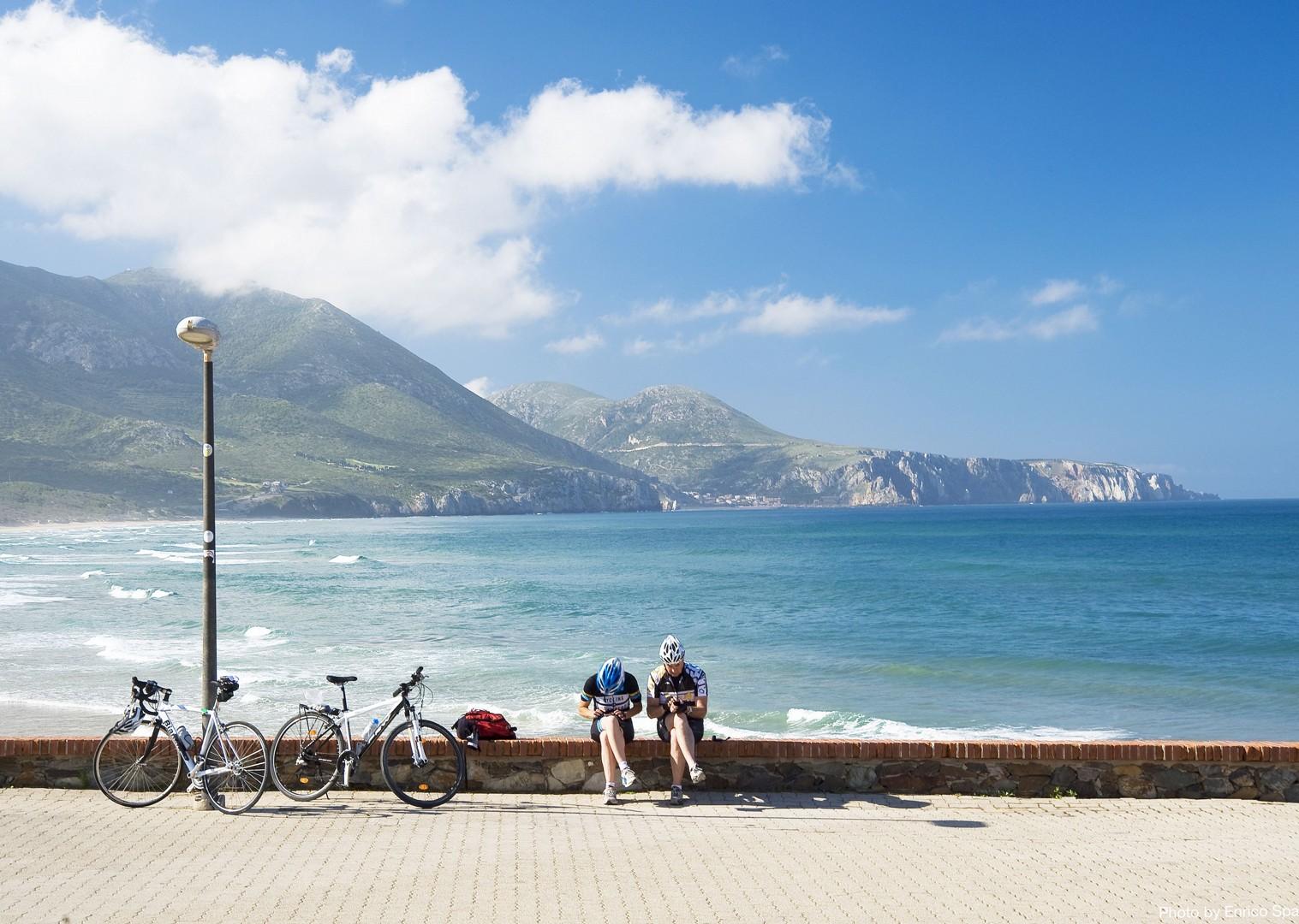 Road-Cycling-Holiday-Coastal-Explorer-Sardinia-Italy-descent-to-Fluminimaggiore-and-Masua.jpg - Italy - Sardinia - Coastal Explorer - Road Cycling