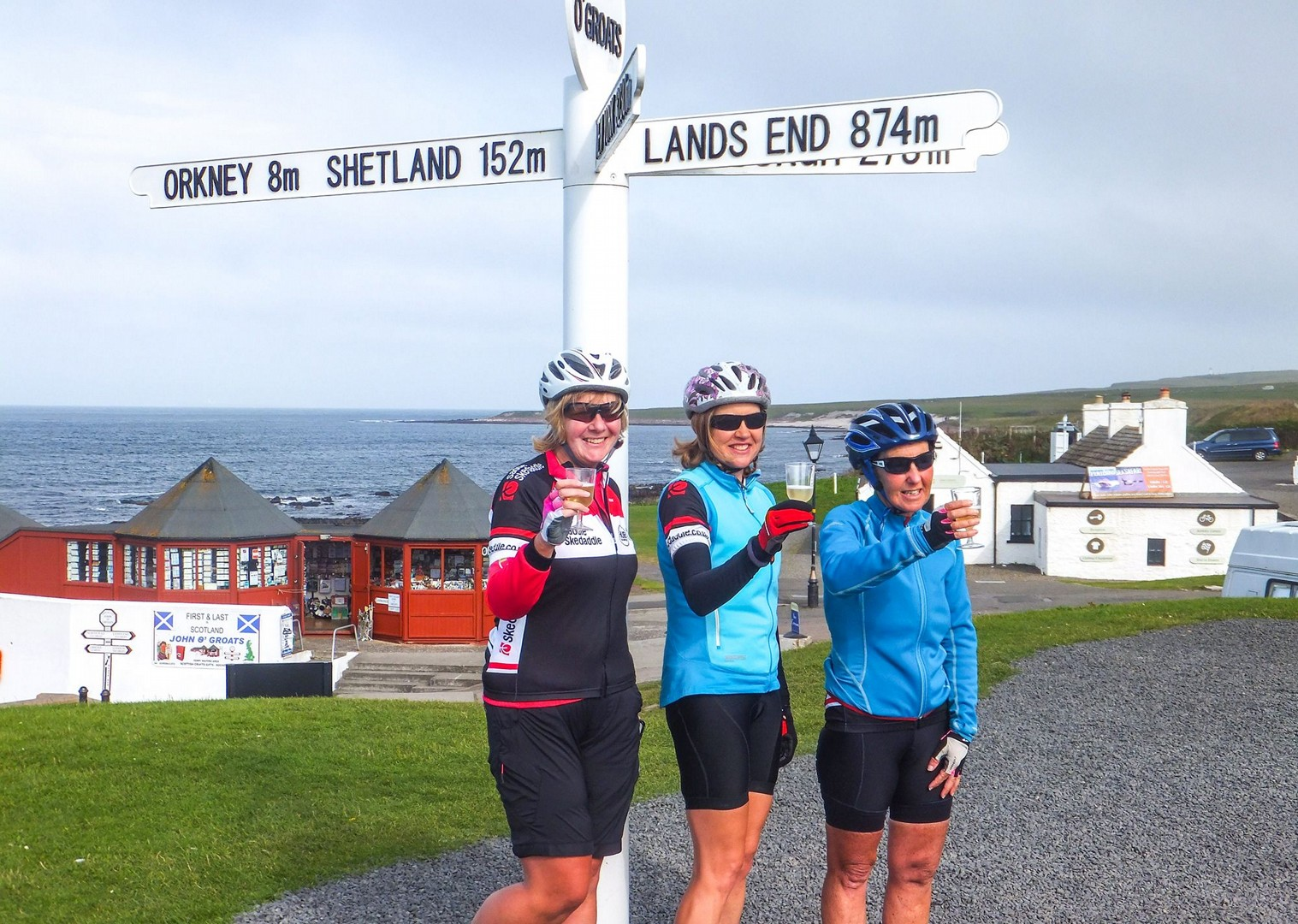 guided-road-cycling-holiday-celebrations-in-the-uk-ride-length-of-britain-lejog.jpg - UK - Land's End to John O'Groats Classic (16 days) - Guided Road Cycling Holiday - Road Cycling