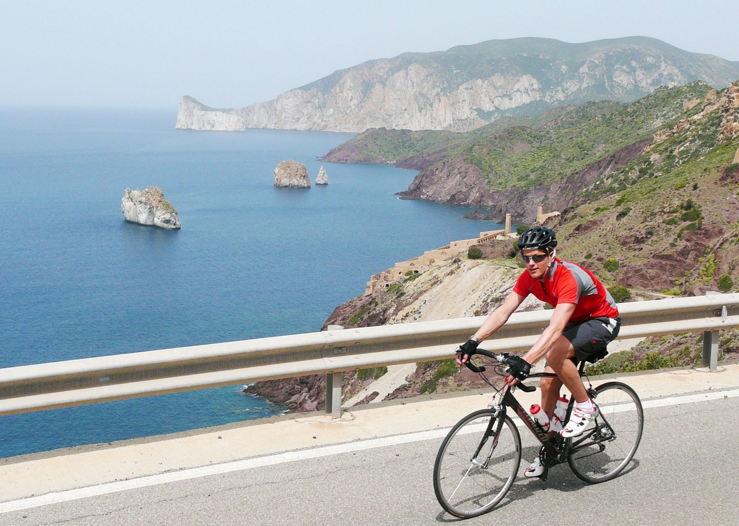 Sardinia-Coastal-Explorer-Self-Guided-Road-Cycling-Holiday-coastal-riding.JPG - Italy - Sardinia - Coastal Explorer - Self Guided Road Cycling Holiday - Road Cycling