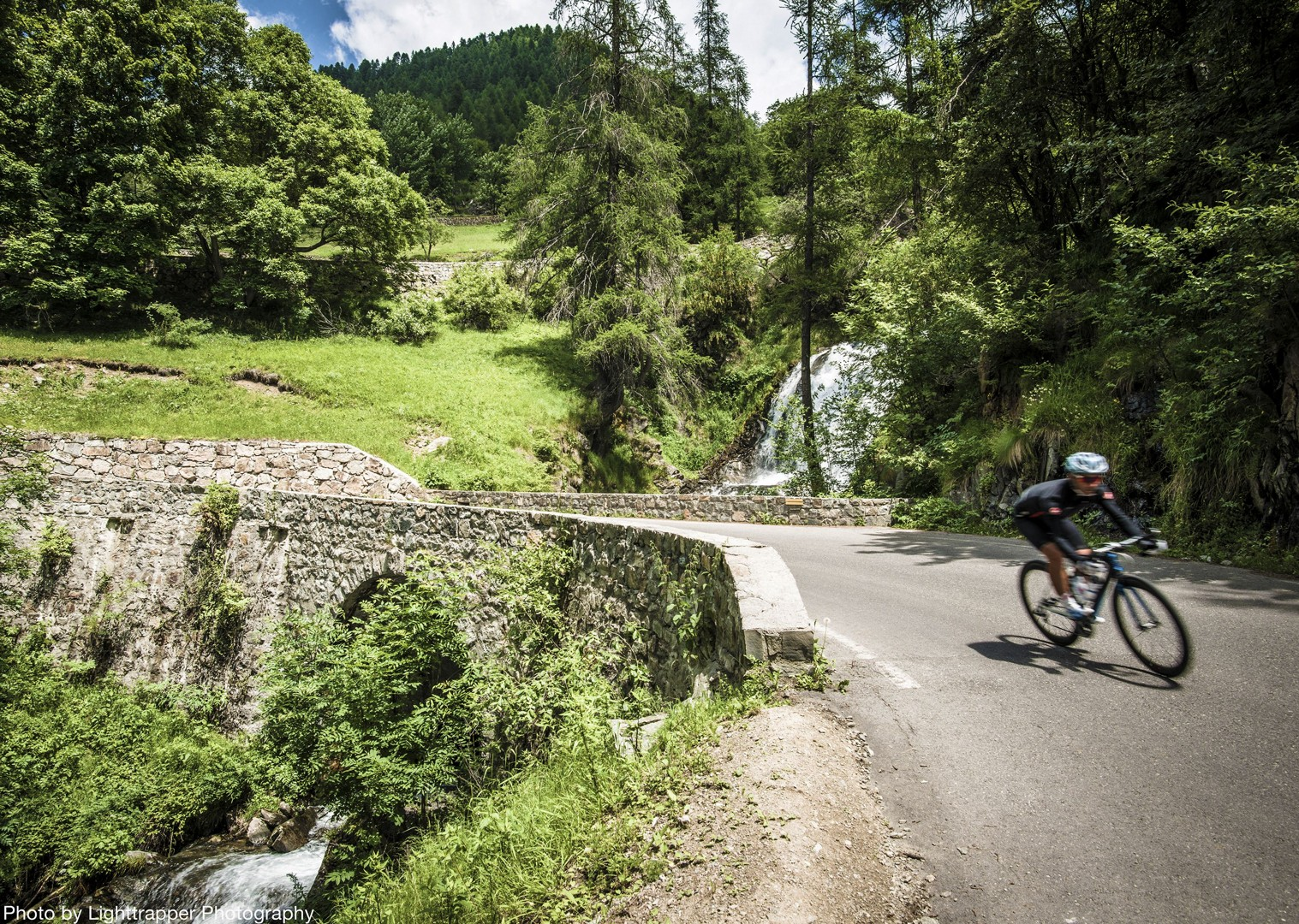 lush-waterfall-alps-france-raid-alpine-road-cycling-holiday.jpg - France - Raid Alpine - Guided Road Cycling Holiday - Road Cycling