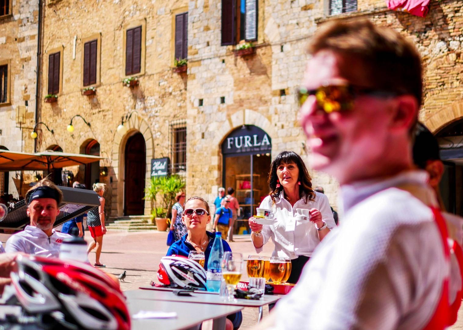 Beer or coffee.jpg - Italy - Tuscany - Giro della Toscana - Guided Road Cycling Holiday - Road Cycling