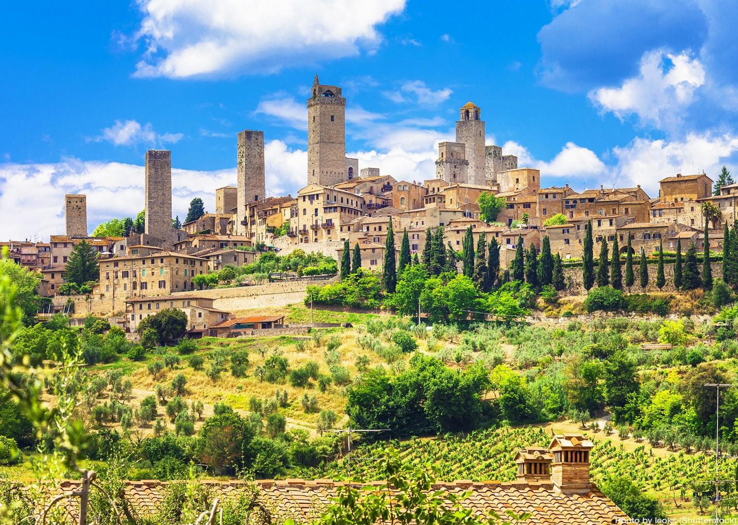san-giminiano-italy-tuscany-leisure-cycling-culture.jpg - Italy - Tuscany - Giro della Toscana - Guided Road Cycling Holiday - Road Cycling