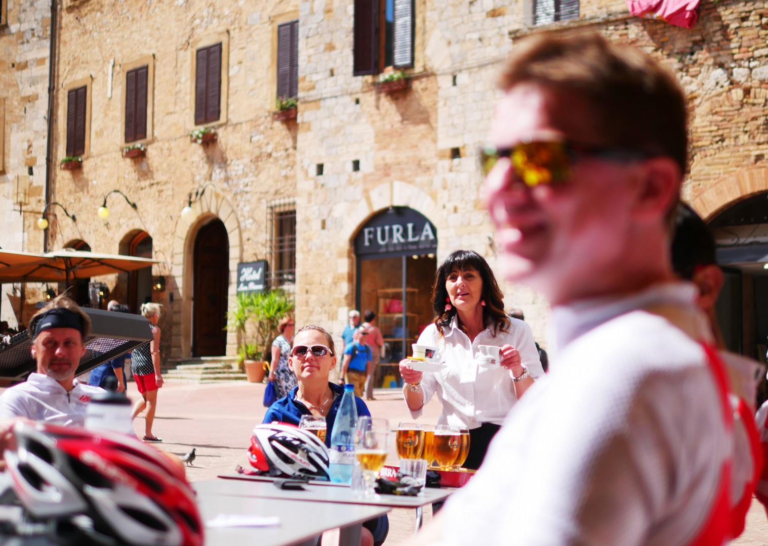 coffee-beer-rest-italy-road-cycling.jpg - Italy - Tuscany Tourer - Self Guided Road Cycling Holiday - Road Cycling