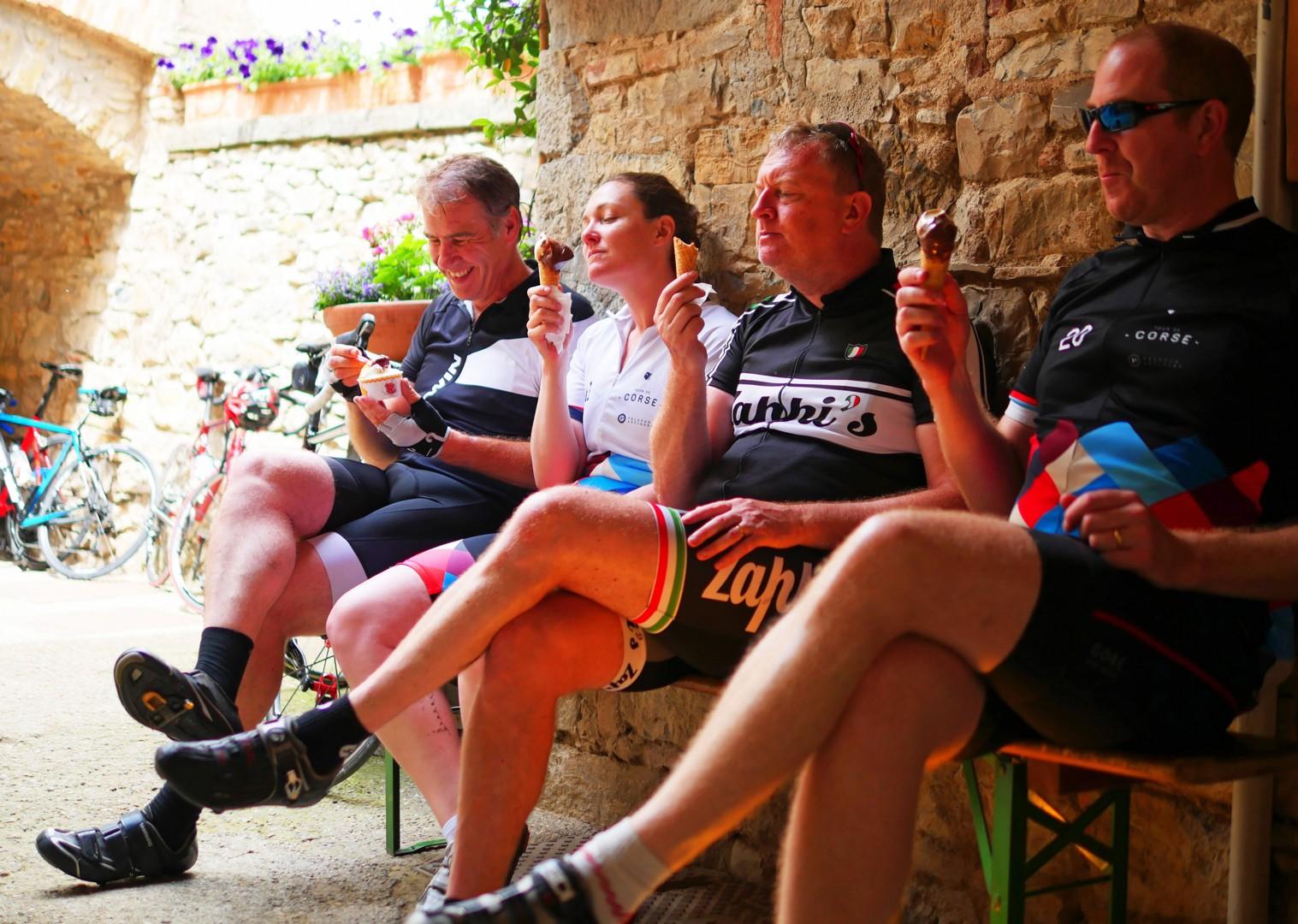 team-gelato-italy-tuscany-cycling-holiday.jpg - Italy - Tuscany Tourer - Self Guided Road Cycling Holiday - Road Cycling