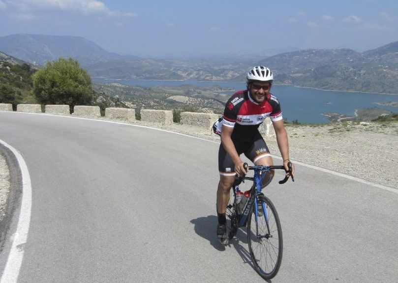 spanishroadcyclingdan.jpg - Southern Spain - Roads of Ronda - Guided Road Cycling Holiday - Road Cycling