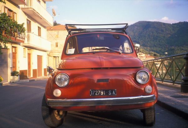 Fiat Cinquecento.jpg - Italy - Grand Traverse - North to South (17 days) - Guided Road Cycling Holiday - Road Cycling