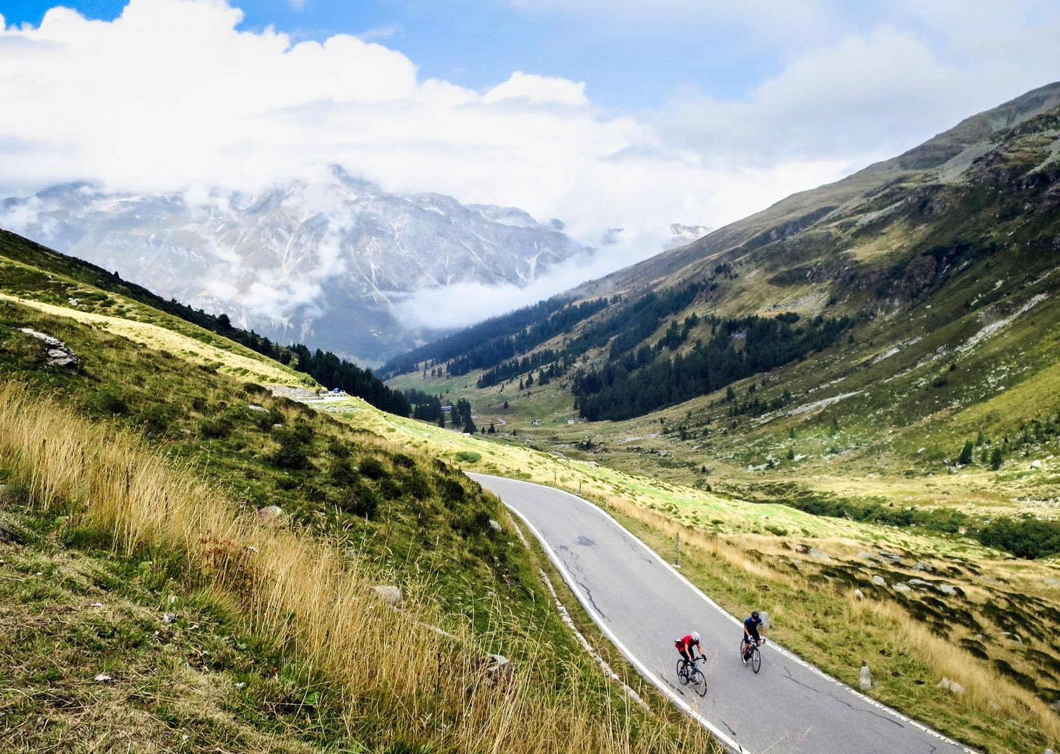 road-cycling-climbing-passo-di-spluga-italy.jpg - Italy - Raid Dolomiti - Guided Road Cycling Holiday - Road Cycling