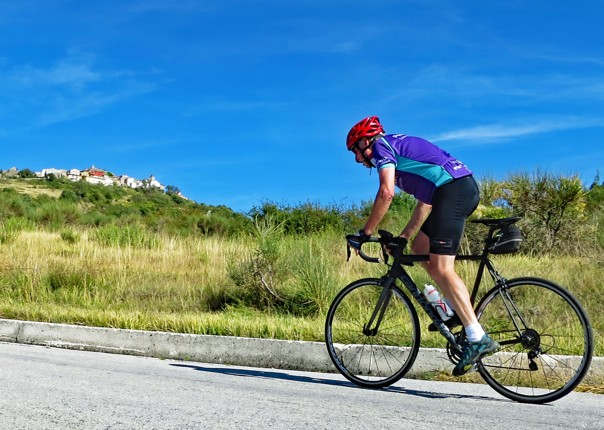 Chris digestivo climbing Day9.jpg - Italy - Grand Traverse - South to North (22 days) - Guided Road Cycling Holiday - Road Cycling