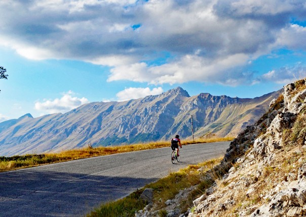 Climbing in the Gran Sasso park.jpg - Italy - Grand Traverse - South to North (22 days) - Guided Road Cycling Holiday - Road Cycling