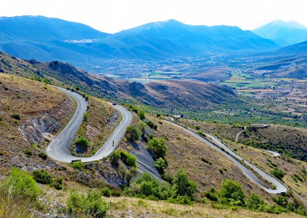 Hairpinned descent.jpg - Italy - Grand Traverse - South to North (22 days) - Guided Road Cycling Holiday - Road Cycling