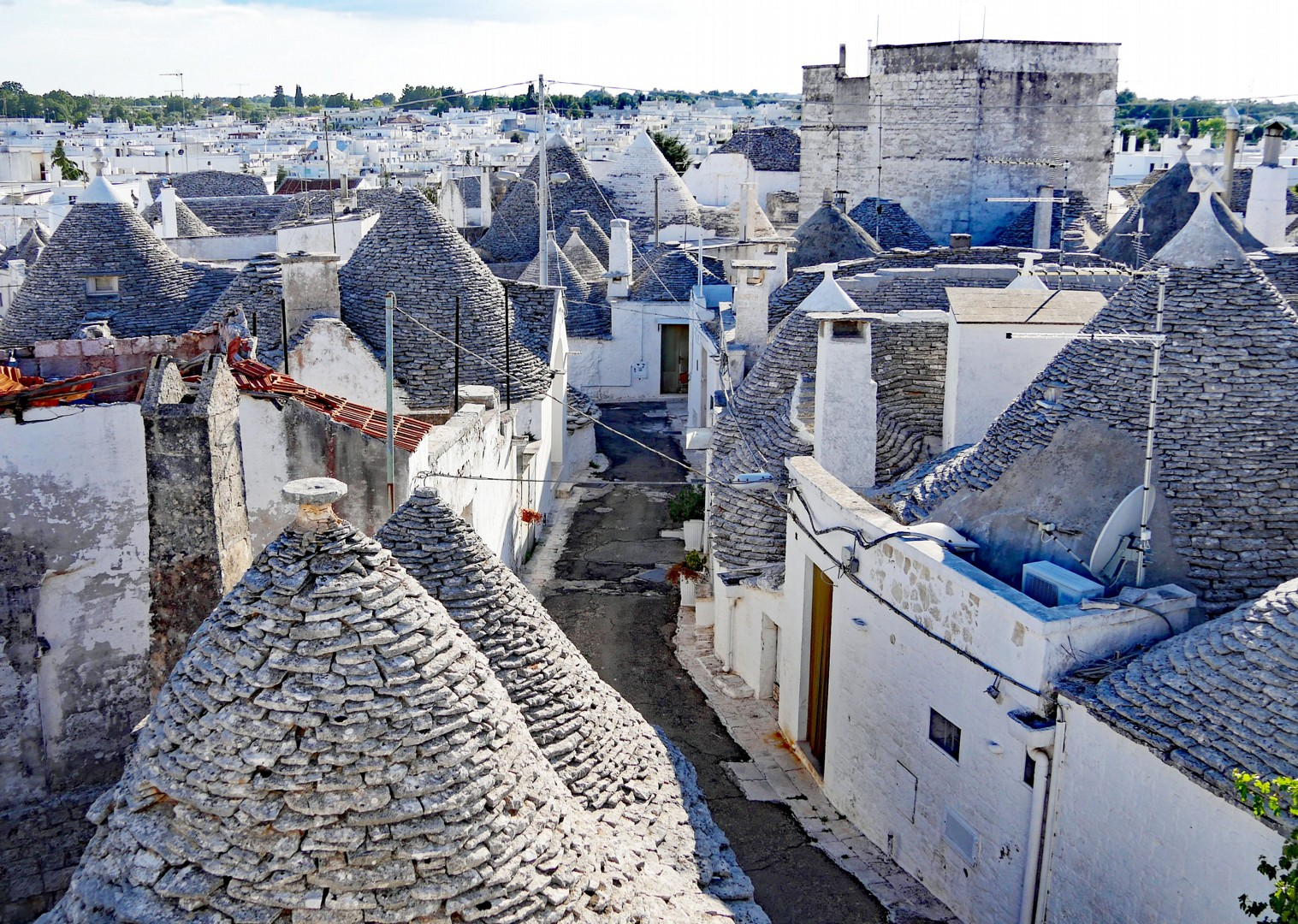 trulli-rooftop-view-alberobello-road-cycling-trip.jpg - Italy - Grand Traverse - South to North (22 days) - Guided Road Cycling Holiday - Road Cycling