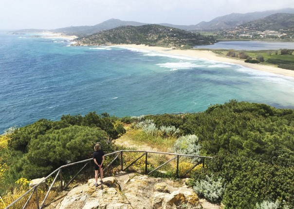 coast-italy-sardinia-view-chia-tower.jpg - Sardinia - Island Flavours - Self-Guided Leisure Cycling Holiday - Leisure Cycling