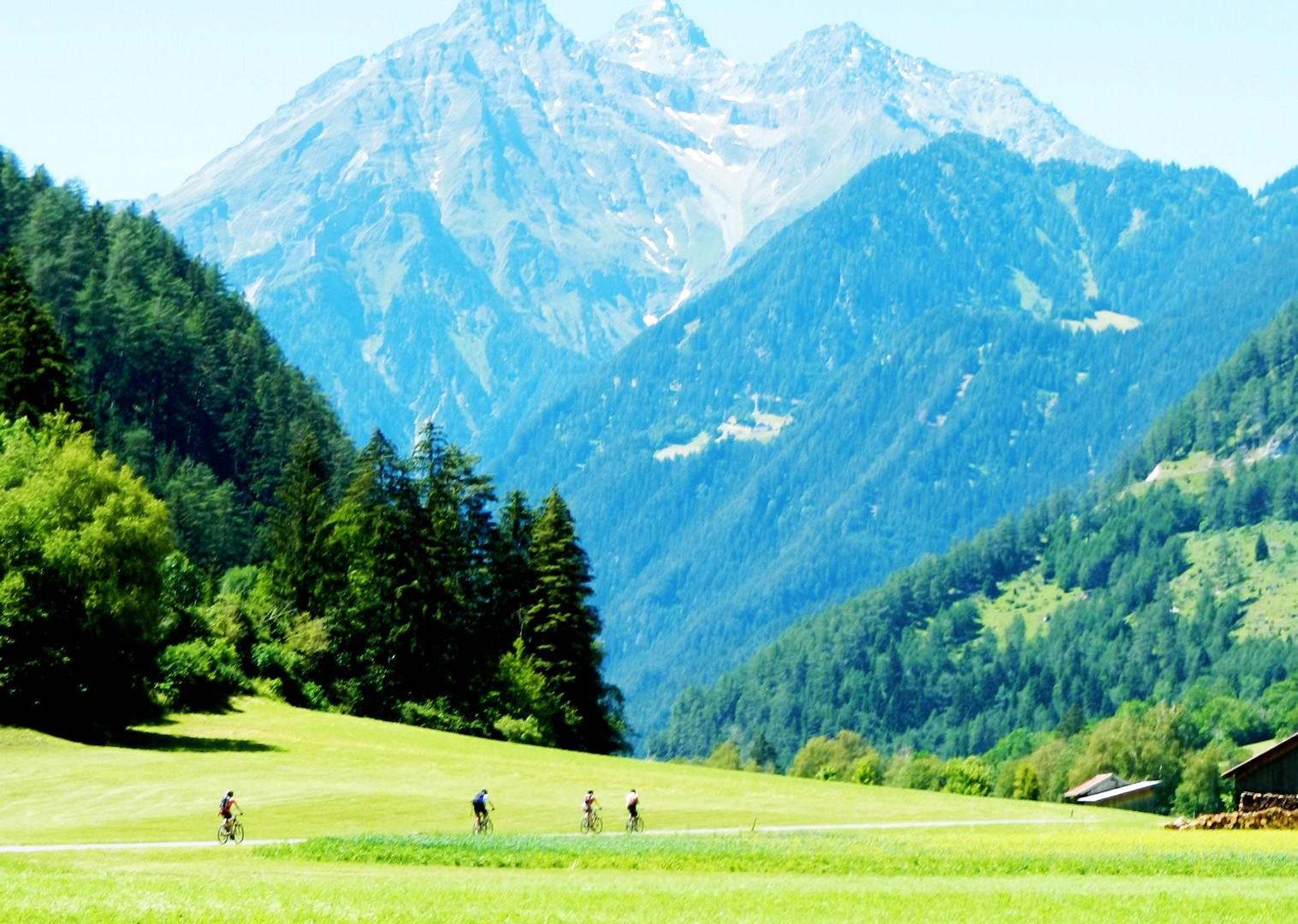 snow-capped-alps-guided-cycling-trip-italy.jpg - Austria and Italy - La Via Claudia - Guided Leisure Cycling Holiday - Leisure Cycling