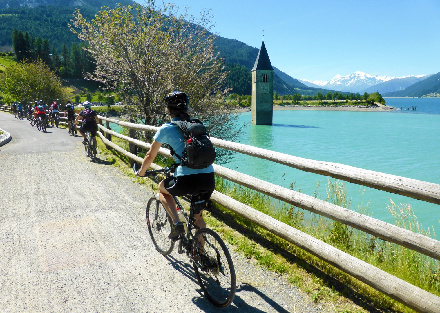 la-via-claudia-guided-cycling-holiday-river-etsch.jpg - Austria and Italy - La Via Claudia - Guided Leisure Cycling Holiday - Leisure Cycling