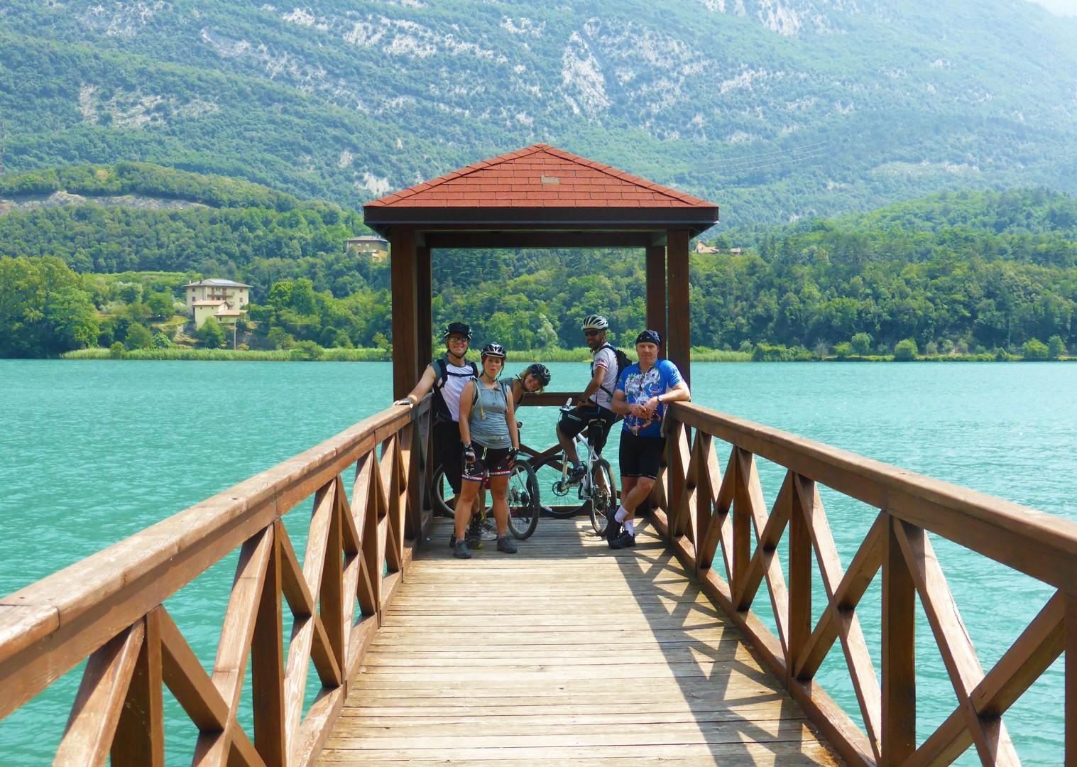 enjoy-ice-cream-shores-lake-garda-cycling-holiday.jpg - Austria and Italy - La Via Claudia - Guided Leisure Cycling Holiday - Leisure Cycling