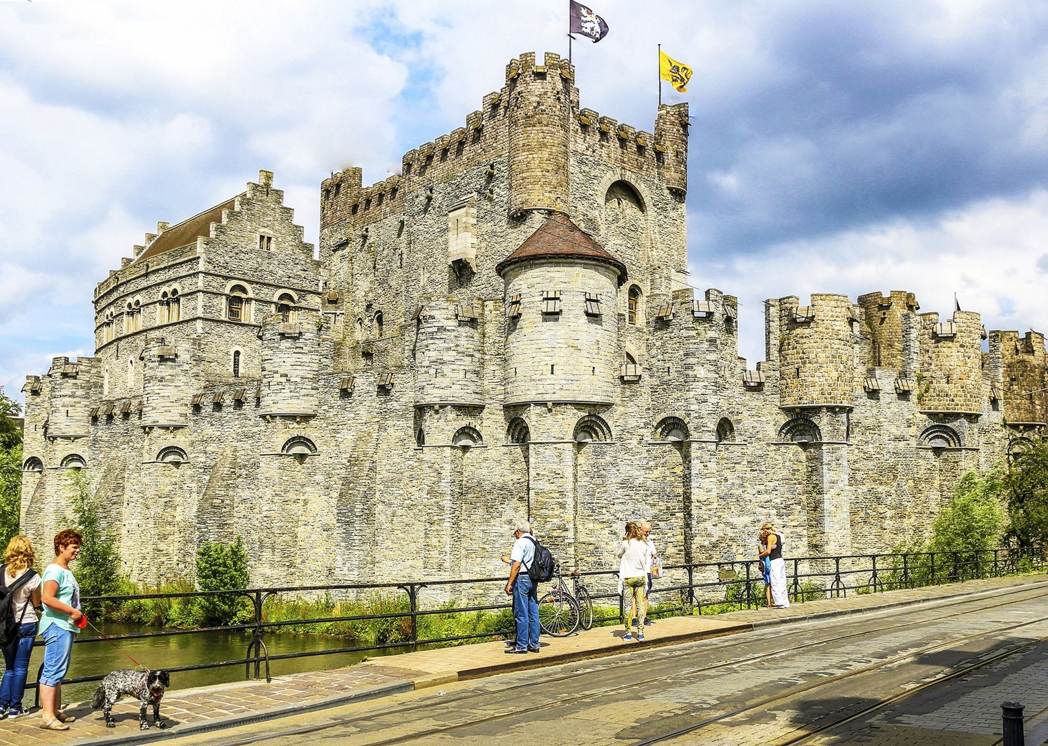 gravensteen-castle-ghent-belgium-historical-sites-bruges-to-amsterdam-tour-on-bikes.jpg - Holland and Belgium - Amsterdam to Bruges - Leisure Cycling