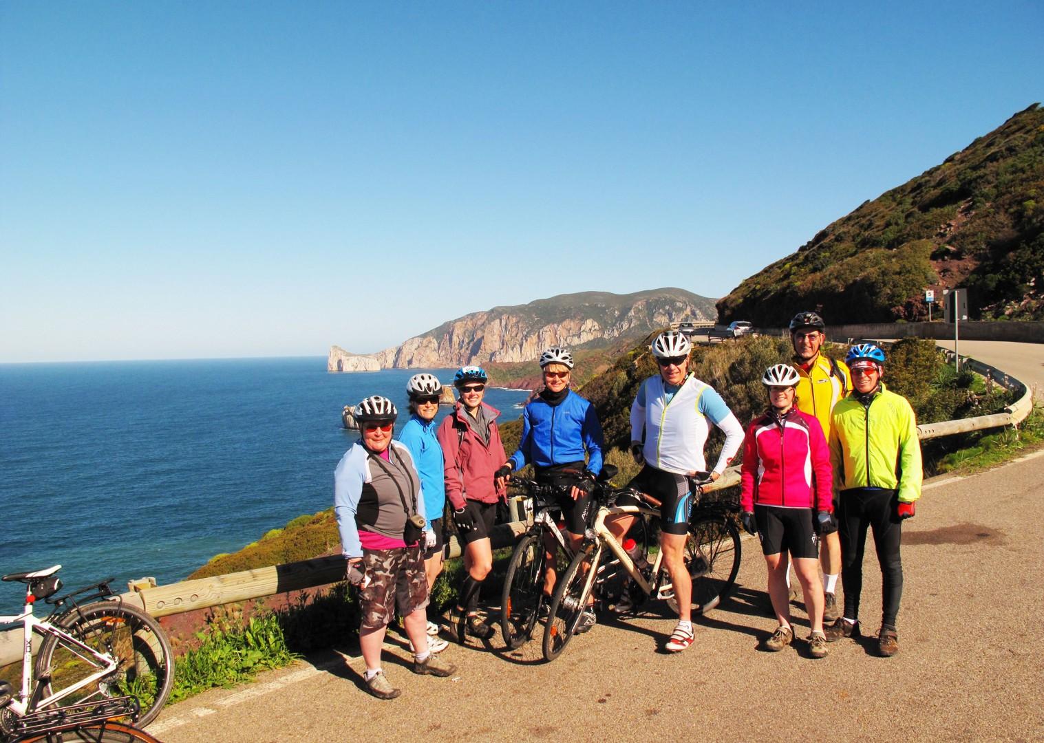 group-guided-cycling-holiday-italy-sardinia.jpg - Sardinia - Island Flavours - Guided Leisure Cycling Holiday - Leisure Cycling