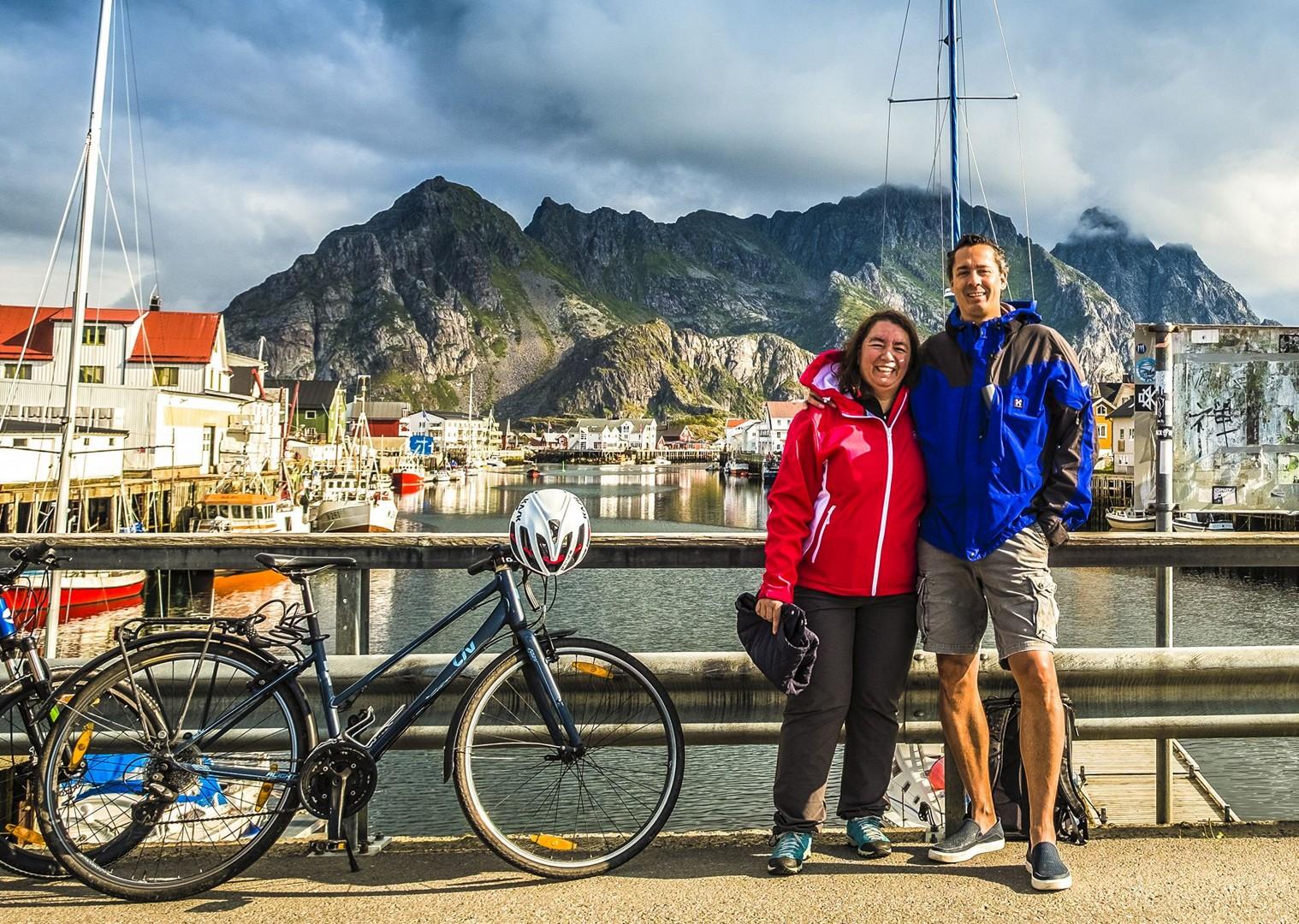 norwegian-fishing-harbours-happy-cyclists-leisure-lofoten-islands-sea.jpg - Norway - Lofoten Islands - Self-Guided Leisure Cycling Holiday - Leisure Cycling