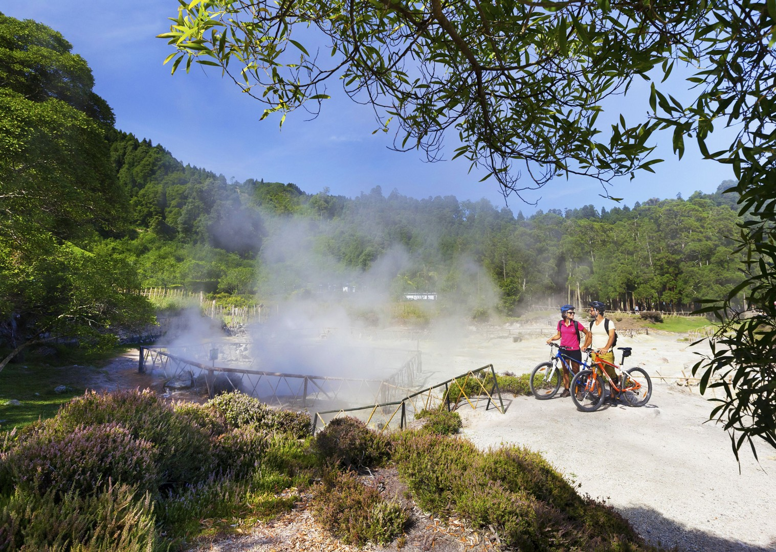 thermal-pools-of-Ferraria-self-guided-cycling holiday-azores.jpg - The Azores - Islands and Volcanoes - Self-Guided Leisure Cycling Holiday - Leisure Cycling