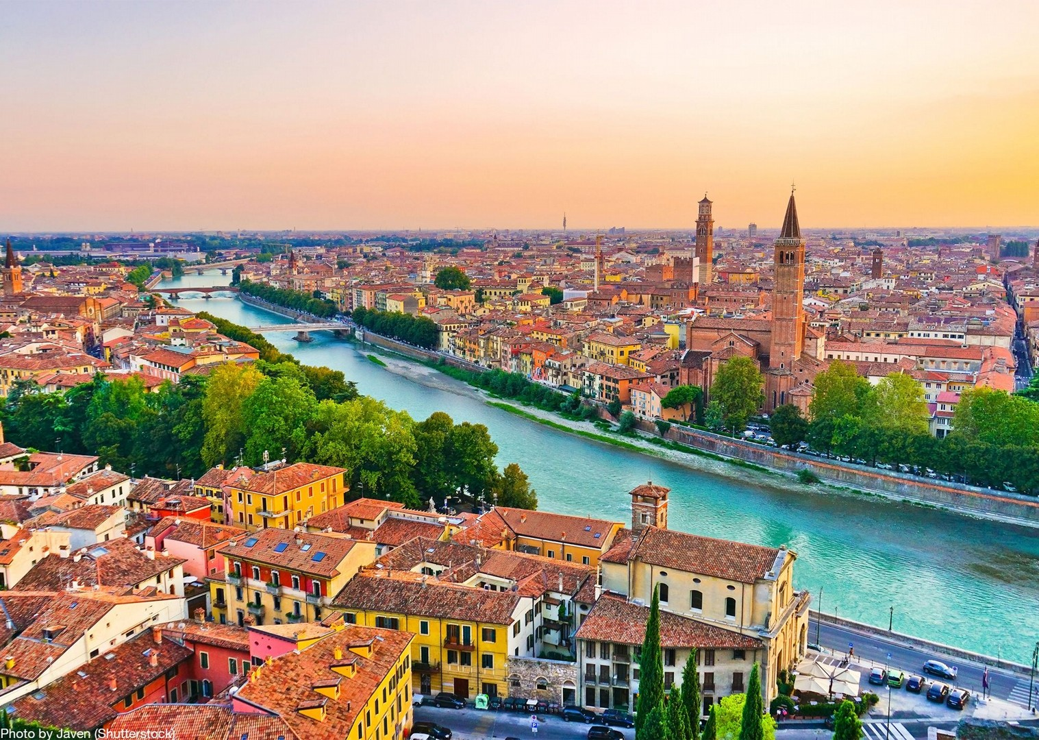 verona-italy-ponte-pietra-self-guided-exploring-cycling-holiday.jpg - Italy - Lake Garda to Venice - Self-Guided Leisure Cycling Holiday - Leisure Cycling