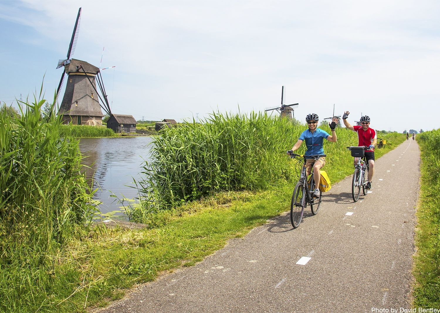 cycling-holiday-in-holland-past-kinderdijk-windmills.jpg - Holland - Green Heart - Bike and Barge Holiday - Leisure Cycling