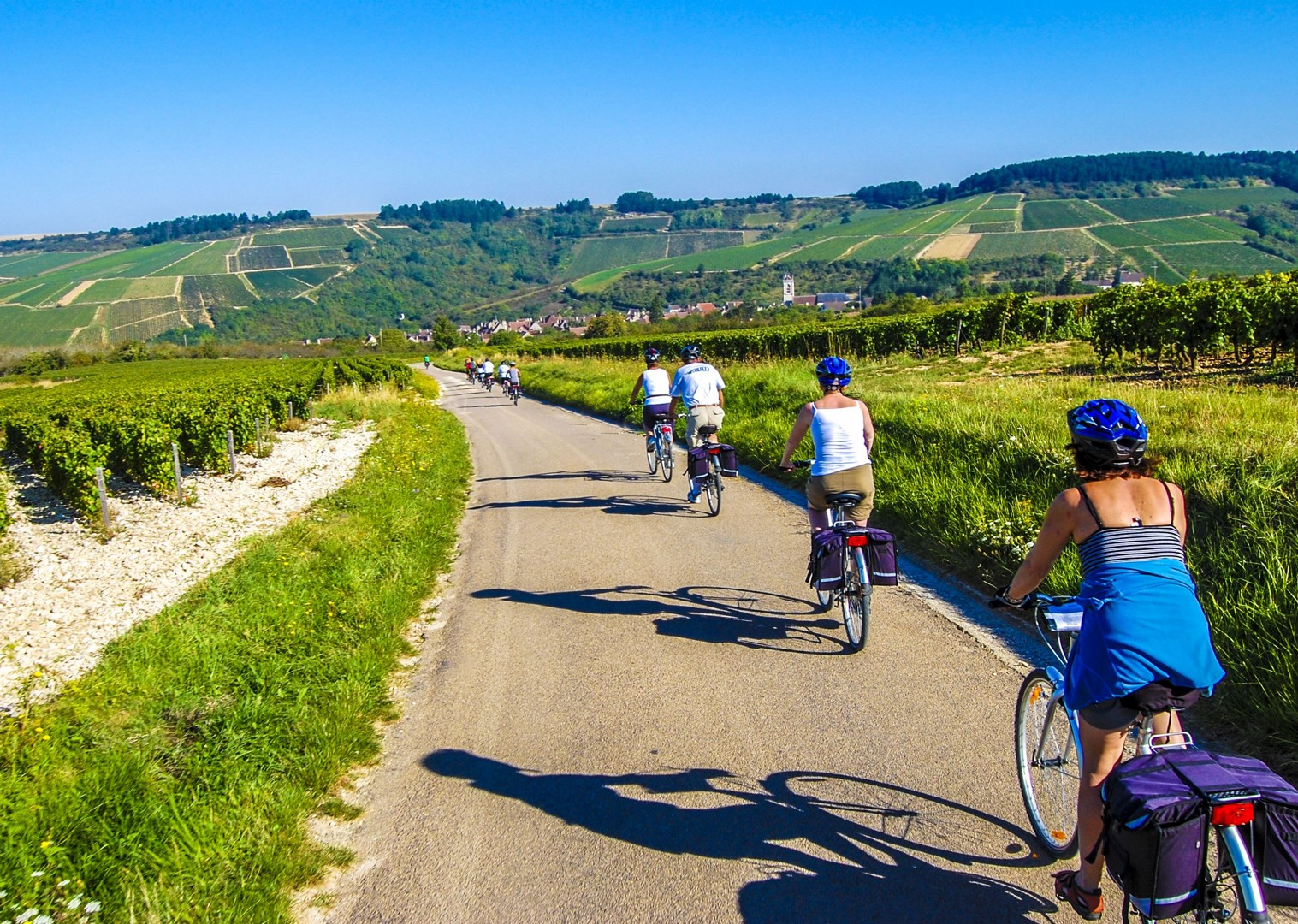 cycle-with-friends-and-family-in-france-self-guided-along-canals-and caves.jpg - France - Burgundy - Caves and Canals - Self-Guided Leisure Cycling Holiday - Leisure Cycling