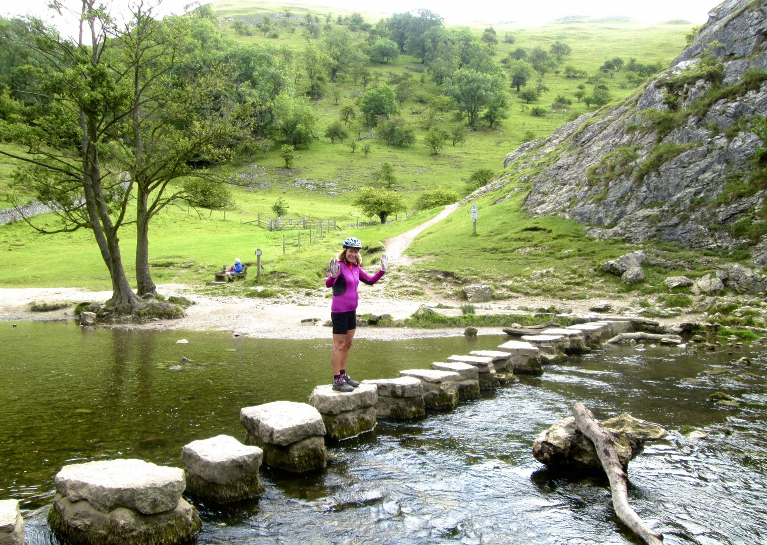 leisure-cycling-holiday-derbyshire-dovedale-steppingstones.jpg - UK - Derbyshire Dales - Dovedale - Self-Guided Leisure Cycling Holiday - Leisure Cycling