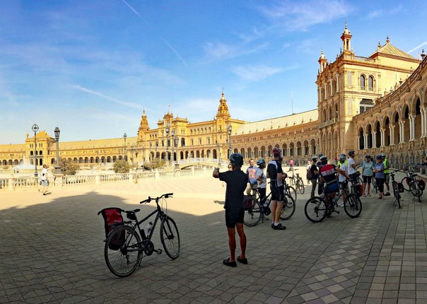 plaza-de-espana-seville-cycling-holiday-in-spain-granada-seville.jpg - Southern Spain - Granada to Seville - Guided Leisure Cycling Holiday - Leisure Cycling