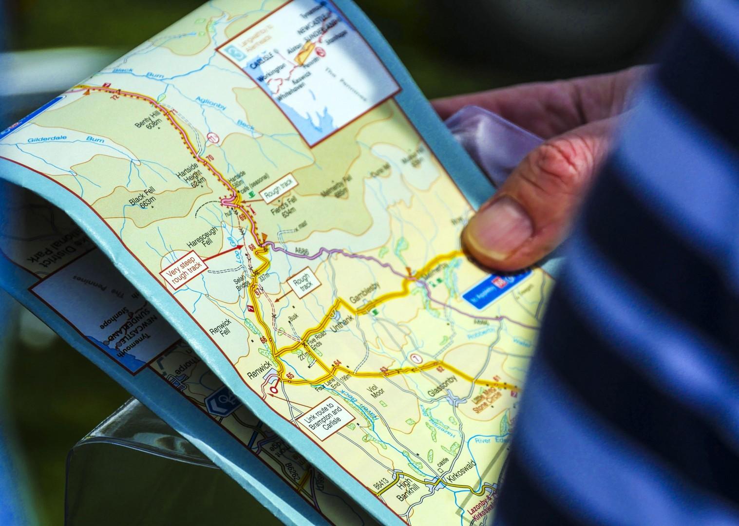 maps-self-guided-england-cycling-c2c-saddle-skedaddle.jpg - UK - C2C - Coast to Coast 4 Days Cycling - Self-Guided Leisure Cycling Holiday - Leisure Cycling