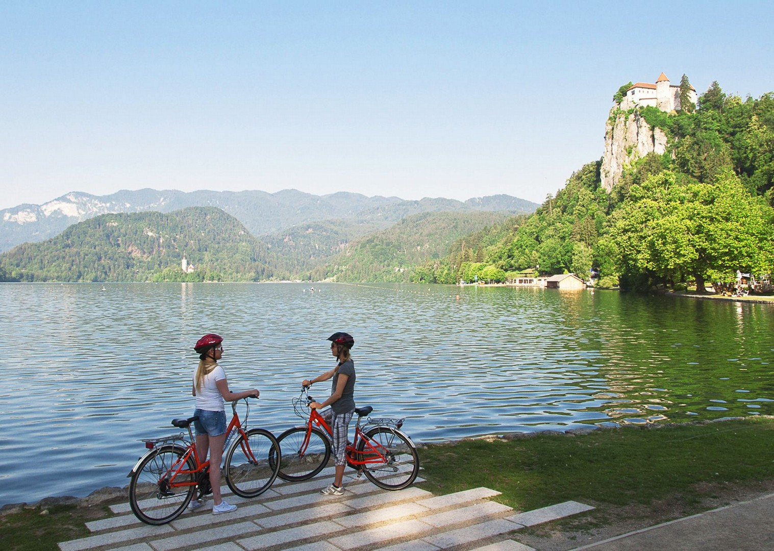 bled-island-cycling-trip-to-lake-bled-in-slovenia.jpg - Slovenia - Highlights of Lake Bled - Self-Guided Leisure Cycling Holiday - Leisure Cycling