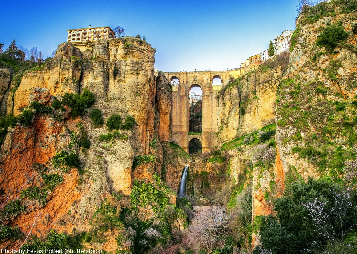 ronda-waterfall-local-culture-leisure-cycling-holiday.jpg - Spain - Andalucia - White Villages to the Ocean - Self-Guided Leisure Cycling Holiday - Leisure Cycling