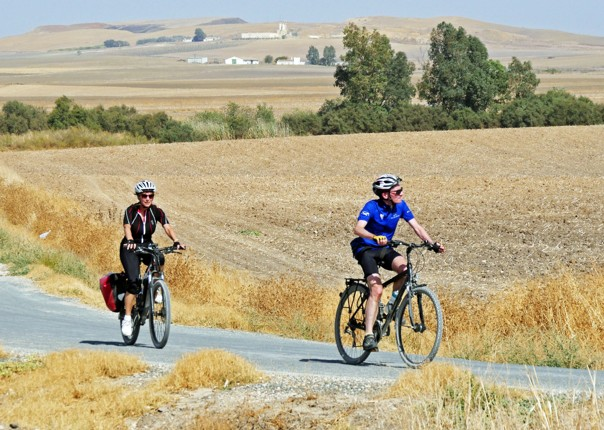 Riding through the fields on Day6.jpg - NEW! Spain - Andalucia - White Villages to the Ocean - Leisure Cycling