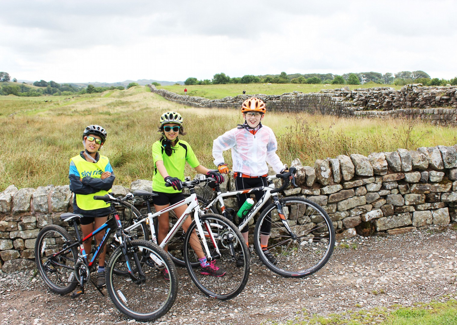 family-cycling-hadrians-wall.jpg - UK - Hadrian's Cycleway - 6 Days Cycling - Self-Guided Family Cycling Holiday - Family Cycling