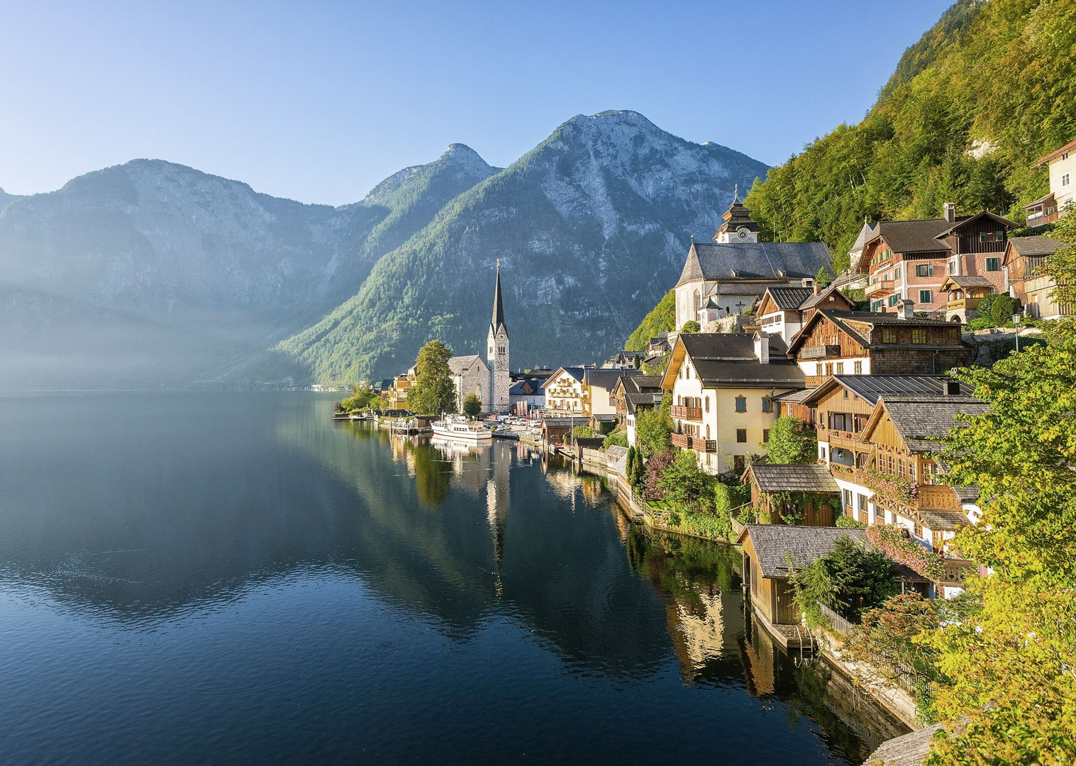 lake-hallstatt-austria-biking-tour-family-cycling-holiday.jpg - Austria - Ten Lakes Tour - Self-Guided Family Cycling Holiday - Family Cycling