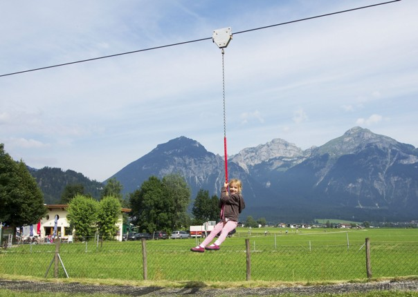 zip-line-family-self-guided-holiday-austria.jpg - Austria - Tyrolean Valleys - Self-Guided Family Cycling Holiday - Family Cycling