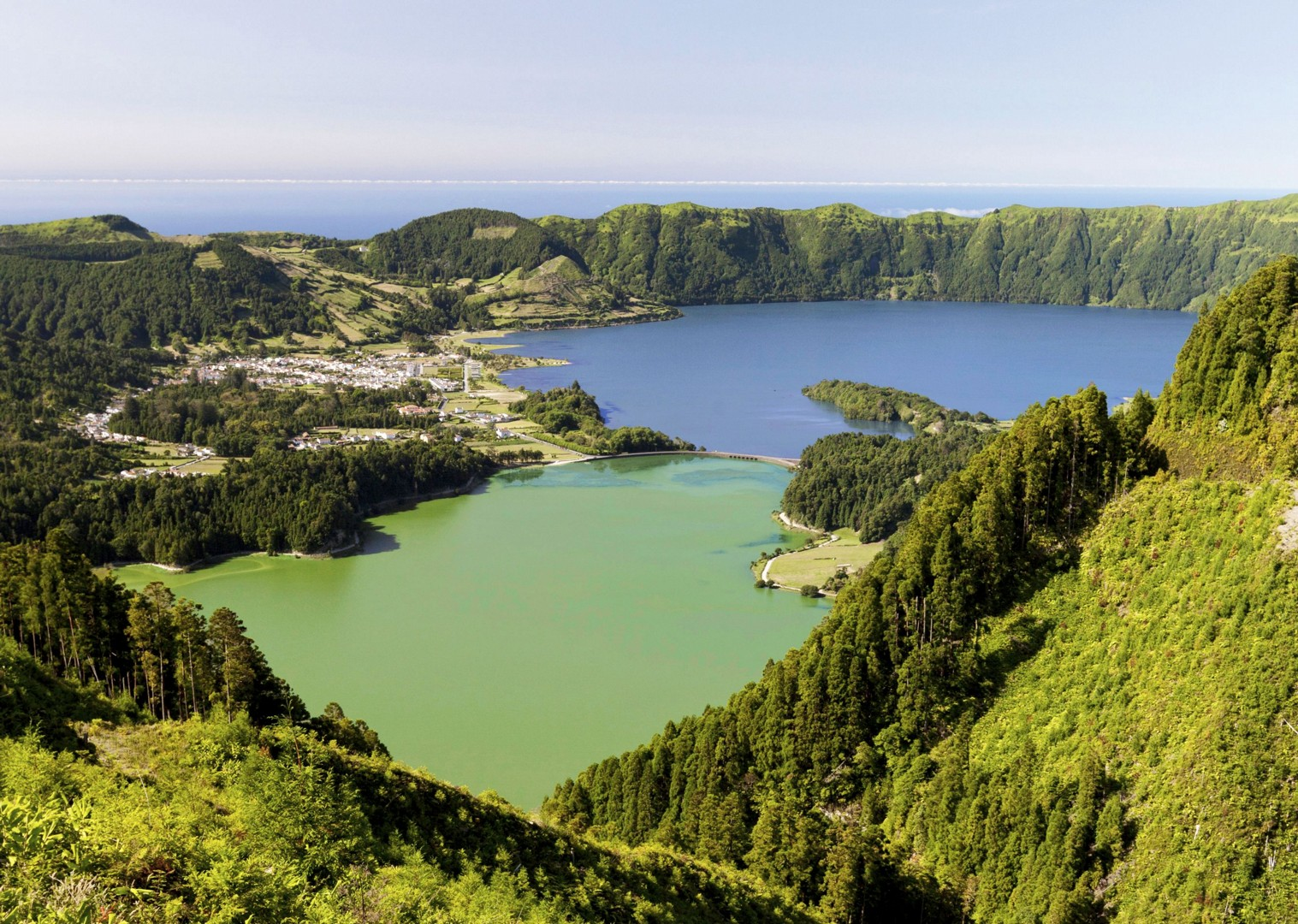 cidades-lake-scenery-azores-cycling-trip-for-family.jpg - The Azores - Island Discoverer - Family Cycling