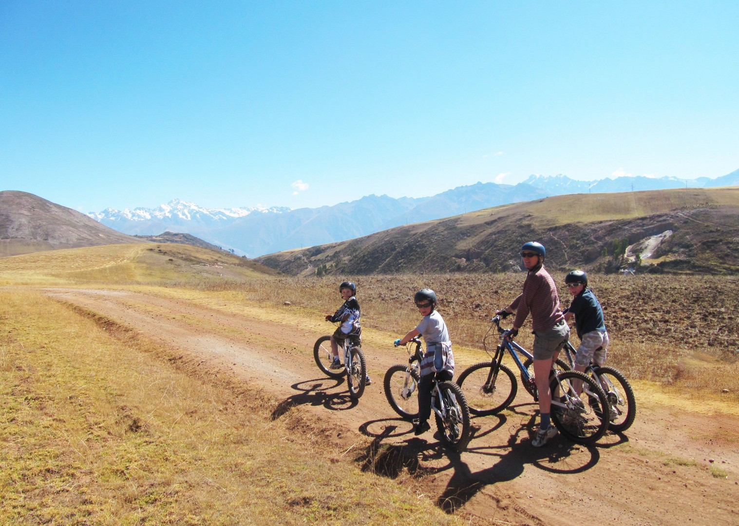 guided-family-cycling-holiday-andean-adventurer-peru-maras-salt-pans.JPG - Peru - Andean Adventure - Guided Family Cycling Holiday - Family Cycling