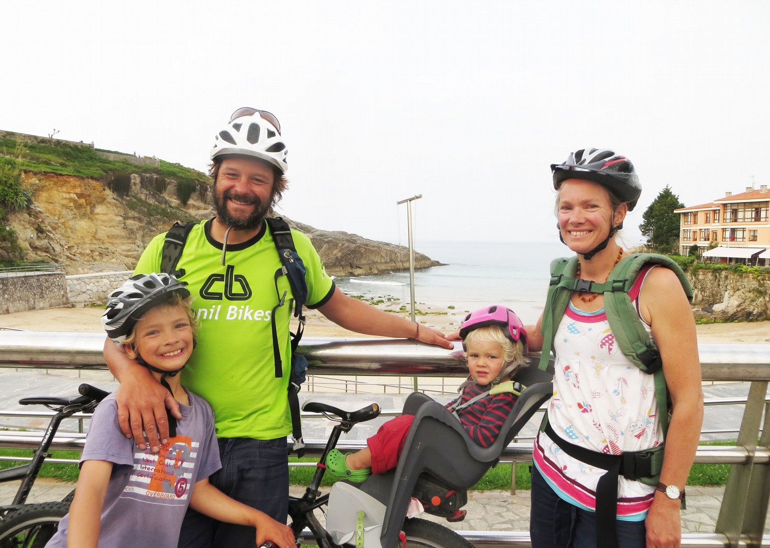 self-guided-family-cycling-holiday-in-spain-family.jpg - Northern Spain - Asturian Coastal Ride - Self-Guided Family Cycling Holiday - Family Cycling