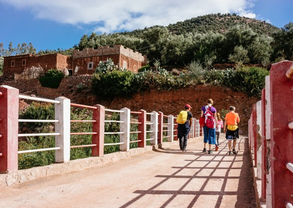 Family-Cycling-Holiday-Morocco-Desert-Mountains-ride-into-Marrakech - Morocco - Desert, Mountains and Coast - Guided Family Cycling Holiday - Family Cycling